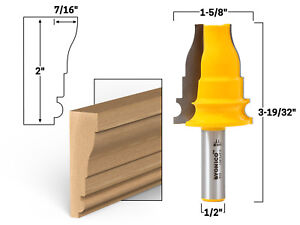 "2"" Door & Window Door & Window Casing Router Bit - 1/2"" Shank - Yonico 16125"