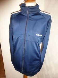 mens adidas originali blue 80 'casual firebird traccia giacca zip