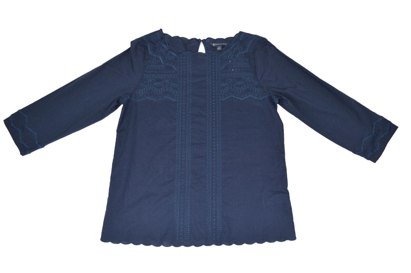 Brooks Brothers damen Navy Blau Long-Sleeve T-Shirt Blouse