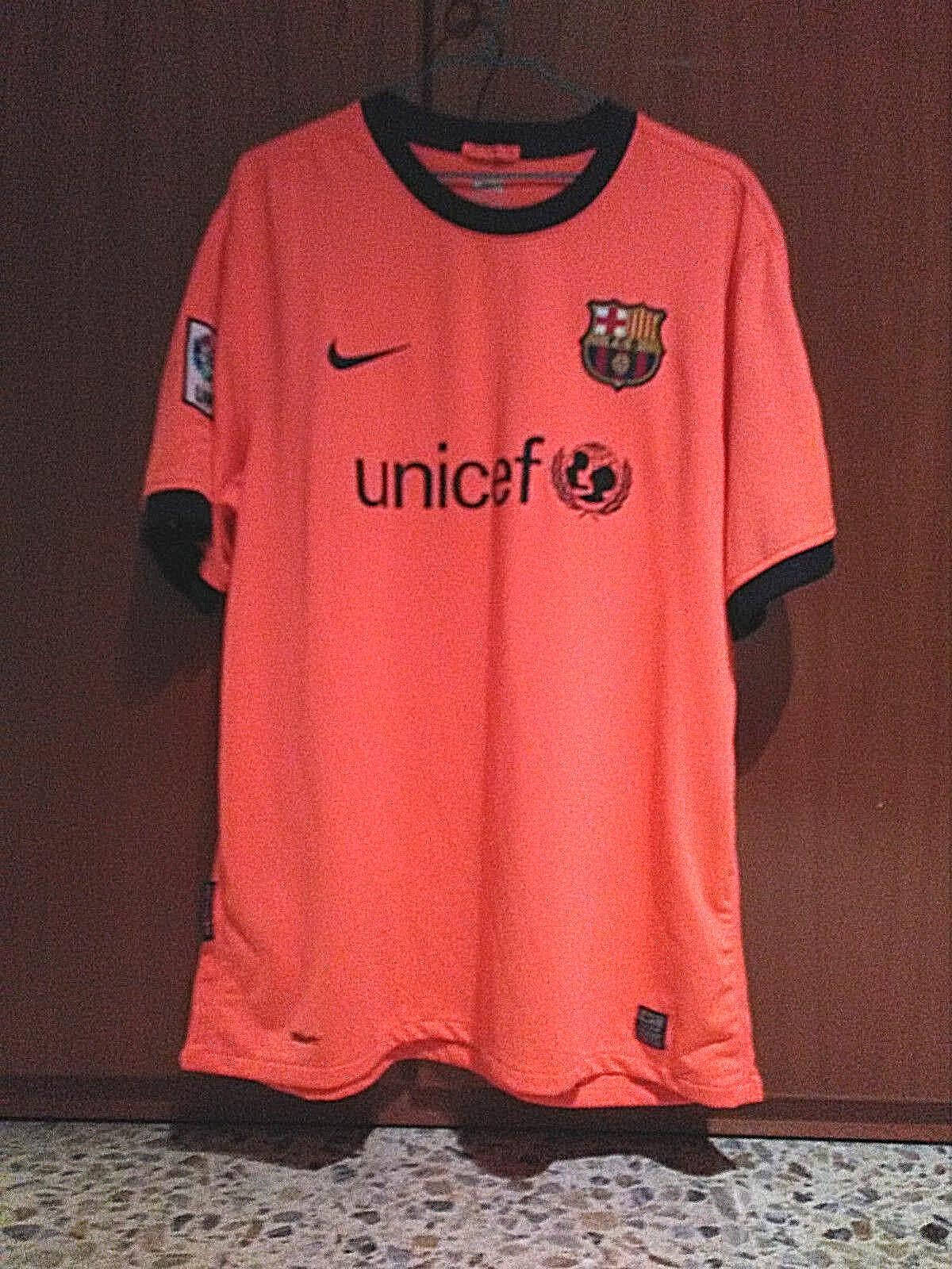 NIKE Barcelona 2009 2010 Mango Salmon camiseta shirt Barça Original Genuine XL
