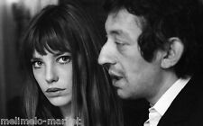 photo 10*15cm 4*6 inch SERGE GAINSBOURG ET JANE BIRKIN