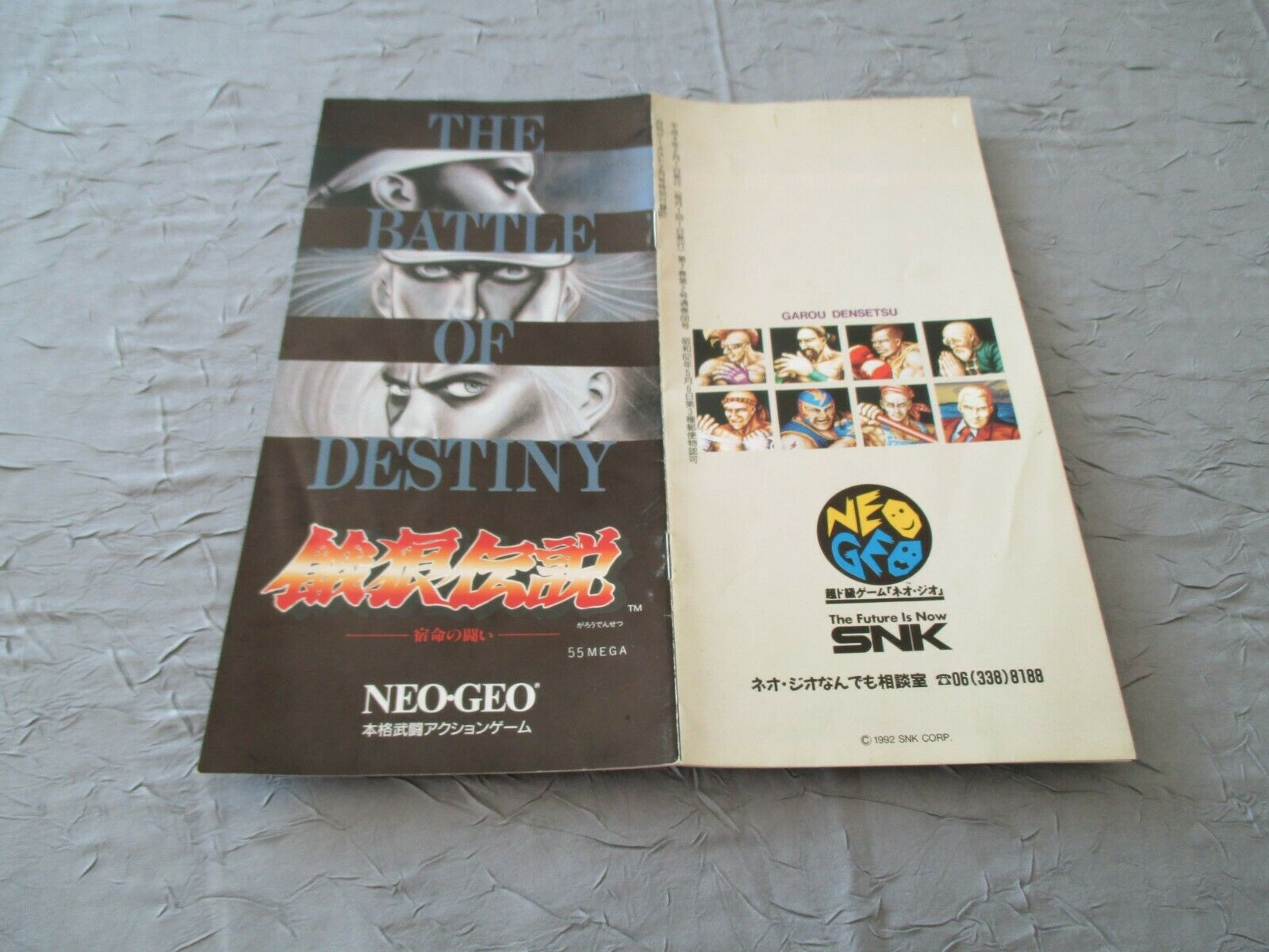 GAROU  DENSETSU FATAL FURY NEO GEO AES SNK ARCADE ORIGINAL JAPAN CATALOG    avec 60% de réduction
