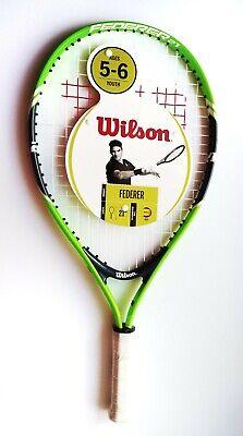 "Wilson FEDERER Kids Ages up to 5 junior tennis racket 3 1//2 grip 19/"" length NEW"