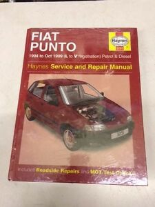 fiat punto haynes manual 1994 1999 brand new book number 3251 rh ebay co uk fiat punto evo manual book Fiat Punto 1998
