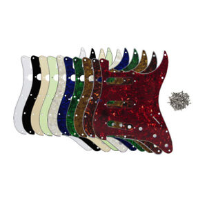 US-Standard-Strat-Guitar-SSS-Pickguard-11-Holes-Scratch-Plate-amp-Screws-22-Colors
