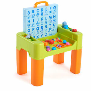 Kids Play Learning Activity Desk 6 In 1 Game Table Center Animal Sounds  Colors