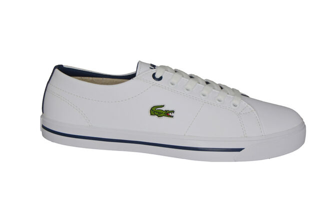 4726518d0ccdc Lacoste Riberac 117 1 Caj Trainers White navy UK 3 for sale online ...