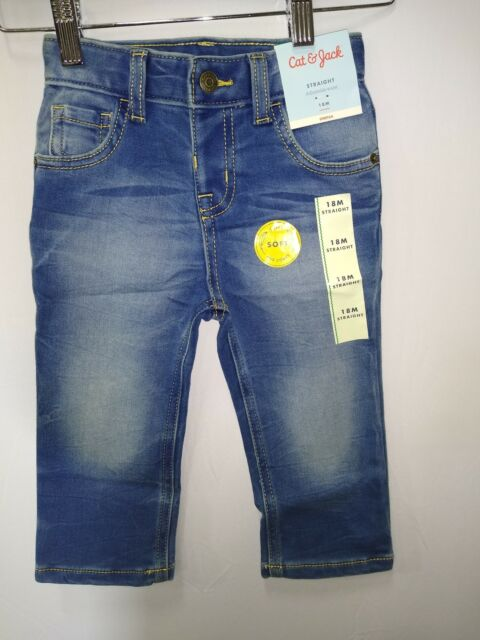 12M Cat /& Jack Toddler Boys Stretching Skinny Jeans Blue Denim w// Drawstring