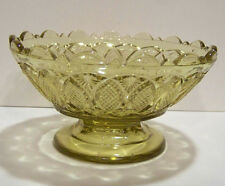 Yellow Amber Glass Footed Dessert Sherbet Dish 4 5/8""