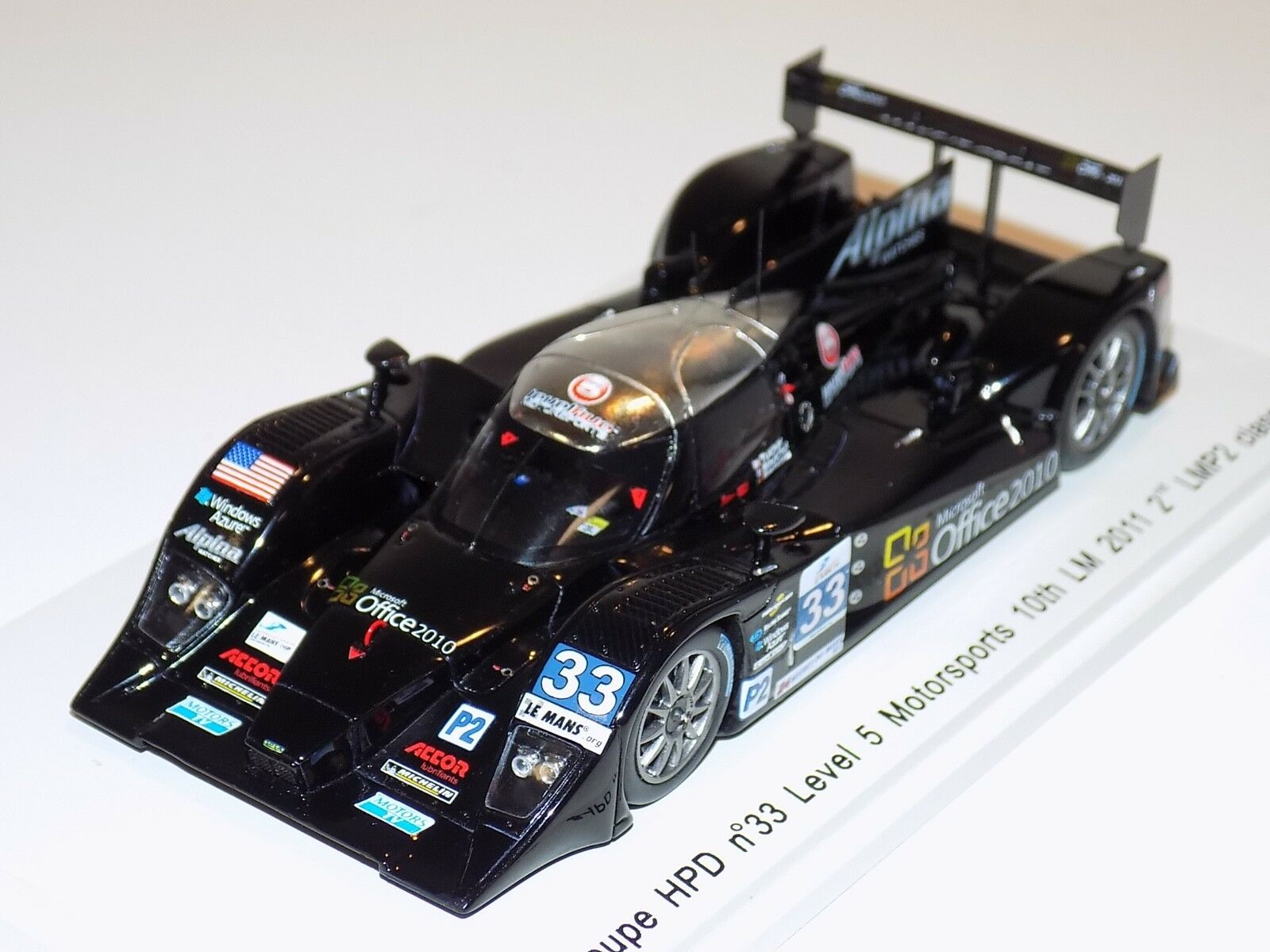1 43 Spark Lola Coupe HPD Car Level 5 10th 2011 24 H of Le Mans  S2530