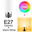 LED-WiFi-Smart-Gluehbirne-Dimmbar-RGBW-Lampe-e27-b22-fuer-Alexa-Google-Home Indexbild 8