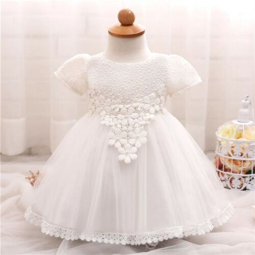 Miranda Ivory Flower Baby Girl Formal Lace Dress Gown Bridesmaid Birthday Gift
