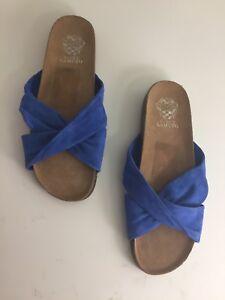 319a5160be84 Vince Camuto Berulia Women s Flip Flop Suede Slide Slip On Sandal ...