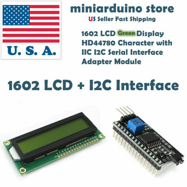 1602 LCD Arduino *FAST SHIP-US SELLER* Serial IIC I2C LCD Adapter Backpack