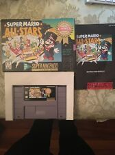 Super Mario All Stars Super Nintendo Snes Complete in Box Cib