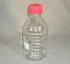 Pyrex Glass 1000 Ml Laboratory Media Reagent Bottle W High Temp Cap Ex