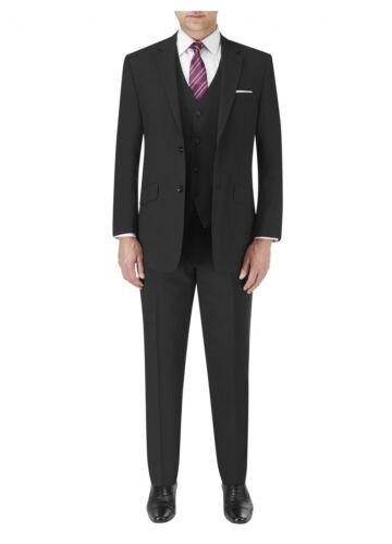 Darwin in Black SKOPES Mens Formal Wool Blend Single Breasted 3 Piece Suit