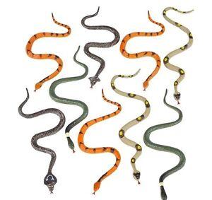 1 Pack Of 12 Plastic 6 Inch Fake Snakes New Gag Gift Joke Toy