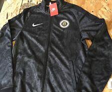 Nike FC N98 AOP GFX Track Jacket Black Sz XL NWT Allover Print Camo
