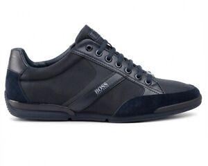 Hugo-Boss-Saturn-LowP-Mx-50407672-401-Sneaker-Uomo-Scarpe-Scarpe-Da-Tennis-Blu