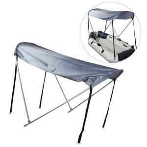 2//4-Persons Inflatable Boat Rain Sun Shelter Awning Top Cover Fishing Tent SP