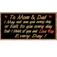 Mom Sign-, Mom And Dad Gs 2234 Mom And Dad Wood Sign, Mom And Dad Plaque