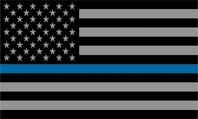 "8"" American Police Flag USA Decal Sticker Vinyl Patriotic Blue Stripe"