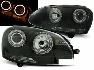Faros-Para-Vw-Golf-5-V-MK5-2003-2009-Angel-Ojos-Negro-Depo-Reino-Unido-RHD-LHD-lpvwh-7