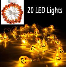 20 Pumpkins LED String Light Pumpkin Lights for Halloween Decoration Party 2016