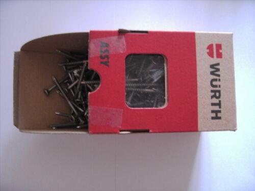 500 Stück WÜRTH Edelstahl A2 Spanplattenschrauben  ASSY PLUS 4,5x40mm