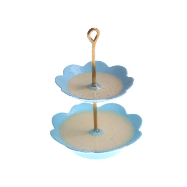 1Pcs 1/12 Dollhouse Miniature 3 layer Metal Desserts Snack Rack Stand QC