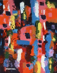 LARGE-CONTEMPORARY-ORIGINAL-MODERN-ABSTRACT-CANVAS-PAINTING-WALL-ART-Dan-Byl