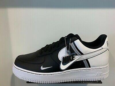 Nike Air Force 1 One Low lv8 schwarz weiß schwarz grau Jock Tags SZ 12 13 ci0061001 | eBay