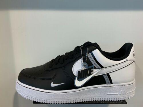 Nike Air Force 1 One Low LV8 Black White Black Grey Jock Tag Sz 12-13 CI0061001