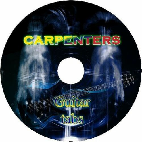 CARPENTERS BASS /& GUITAR TAB CD TABLATURE GREATEST HITS BEST OF ROCK MUSIC SONG