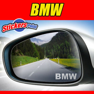 3-ADESIVI-x-specchietti-BMW-logo-PVC-effetto-vetro-smerigliato-stickers