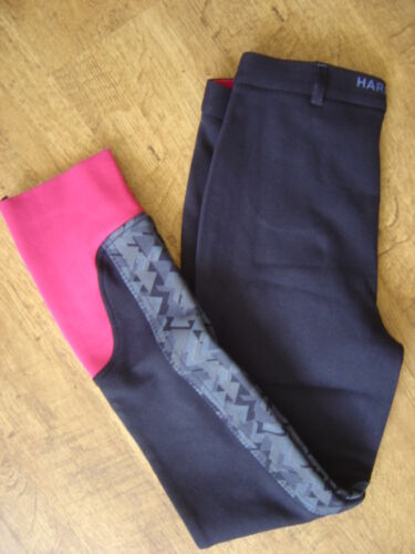 "Harry Hall Junior NavyPink Harton jodhpurs, 26"" waist regular leg, NewTags"