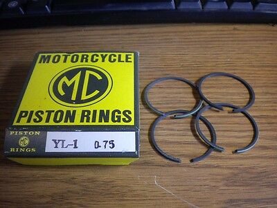 NOS MC Brand Yamaha Piston Rings STD 1966-1967 YL1 134-11610-00