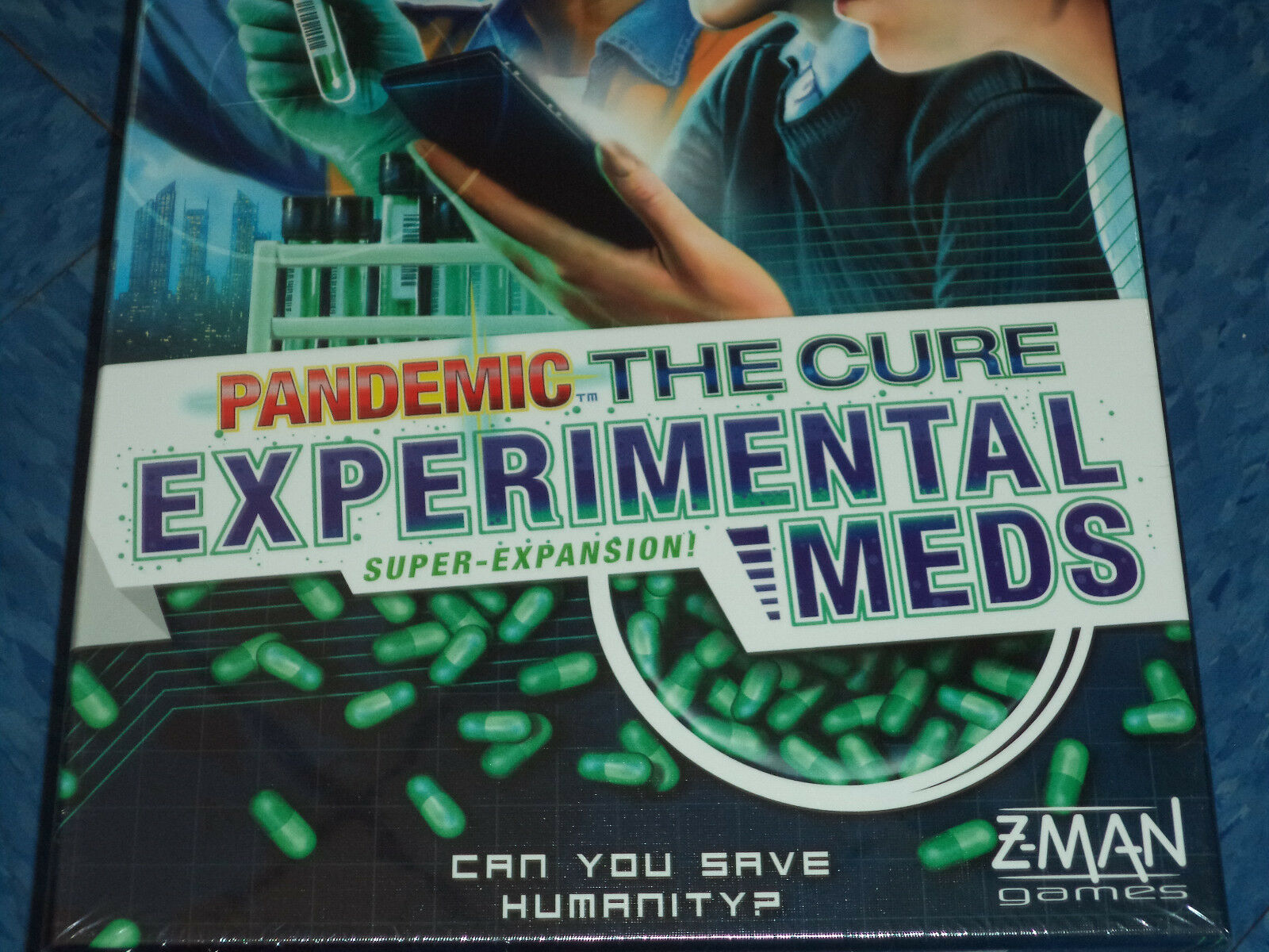 Pandemic The Cure Experimental Meds Expansion - Z-Man Games Board Game Nuovo Dice
