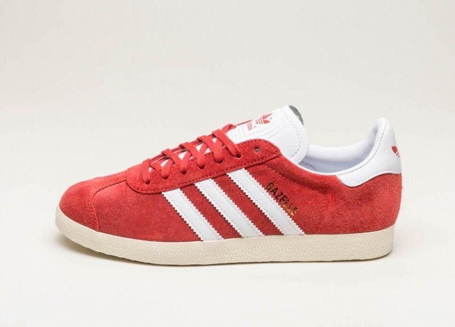 Adidas originali gazzella dimensioni nuove di zecca inscatolate formatori red suede