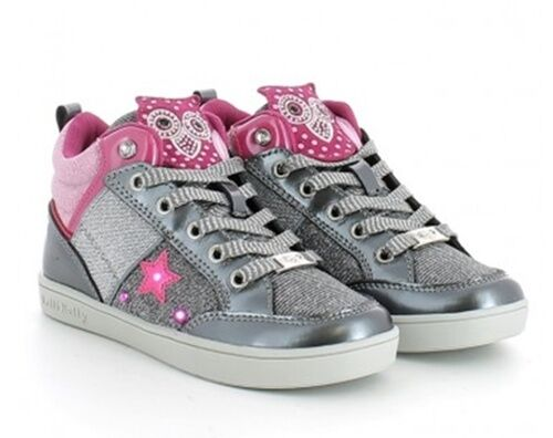wholesale dealer 2c17c 54314 LELLI KELLY CALIFORNIA GUFETTO LK6404 GRIGIO VERNICE scarpe scarponcini  bambina