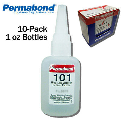 Instant Adhesive-thin Wicking-for Plastics&rubbers Permabond 101 1oz 10-pack