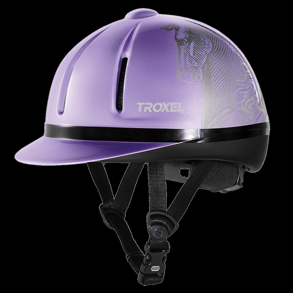 Troxel Legacy Sottile Profilo Viola Lavanda Equitazione Casco Piccolo
