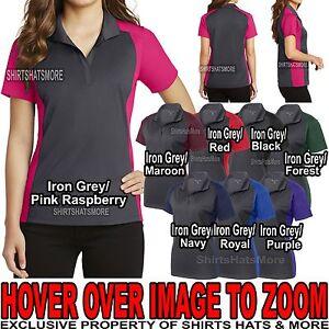 Womens-Polo-Shirt-Two-Tone-Moisture-Wicking-Dri-Fit-Sport-Wick-XS-XL-2X-3X-4X