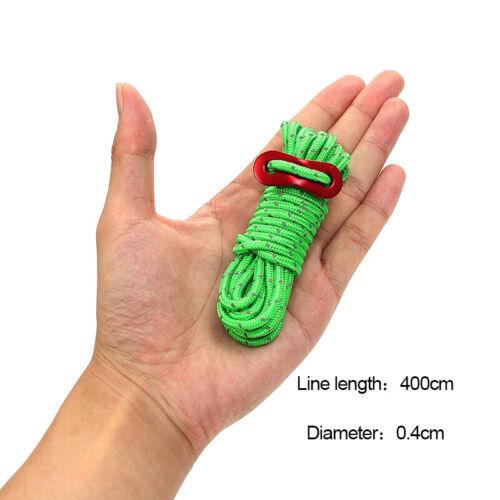 8er set 4m Zelt Seil Reflektierendes Zeltleine Zeltschnur Zubehör Camping Reisen