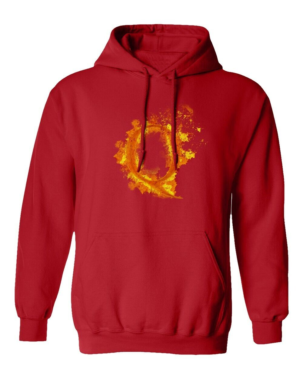 Q Anon Fire Gifts Modern Qanon Men's Hooded Sweatshirt