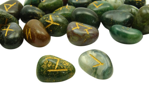 Trommelsteine Blood Stone Runen-Alphabet Symbol Edelsteine spirituelle Heilung