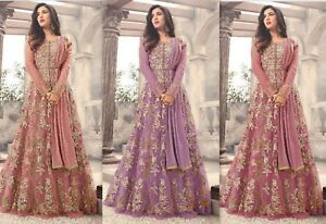GéNéReuse Designer Anarkali Salwar Kameez Suit Ethnic Bollywood Pakistanais Dupatta Party So-afficher Le Titre D'origine