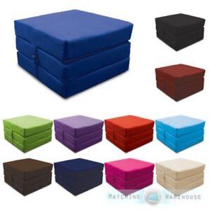 Coton-Replie-Adulte-Cube-Invite-Lit-Z-Chaise-Tabouret-Simple-Futon-Fauteuil-Lit