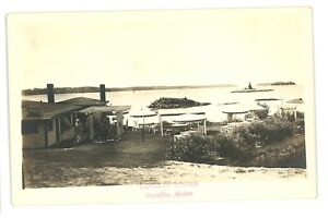 RPPC-Linekin-Lodge-at-BAYVILLE-ME-Vintage-Maine-Real-Photo-Postcard
